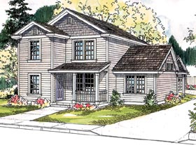 Contemporary Cottage Country Craftsman Traditional House Plan 59752 Elevation