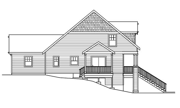 Bungalow, Country, Craftsman, Farmhouse House Plan 59753 with 3 Beds, 3 Baths, 2 Car Garage Picture 1