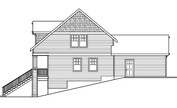 Bungalow, Country, Craftsman, Farmhouse House Plan 59753 with 3 Beds, 3 Baths, 2 Car Garage Picture 2