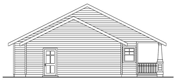 Cottage Country Craftsman Ranch House Plan 59754 Rear Elevation