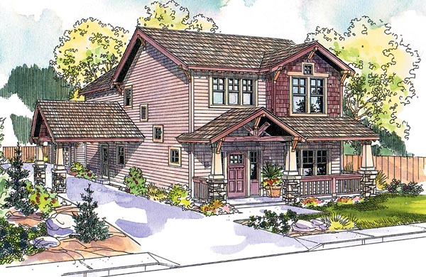 Bungalow Cottage Country Craftsman House Plan 59755 Elevation