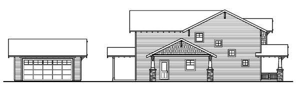 Bungalow, Cottage, Country, Craftsman House Plan 59755 with 3 Beds, 3 Baths, 2 Car Garage Picture 1