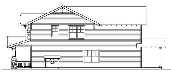 Bungalow, Cottage, Country, Craftsman House Plan 59755 with 3 Beds, 3 Baths, 2 Car Garage Picture 2