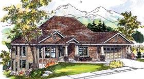 Bungalow Contemporary Cottage Craftsman House Plan 59757 Elevation