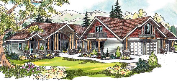 Craftsman Southwest House Plan 59758 Elevation