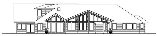 Craftsman Southwest House Plan 59758 Rear Elevation