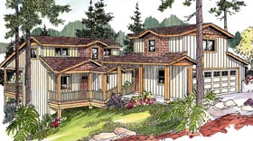 Contemporary Craftsman House Plan 59762 Elevation