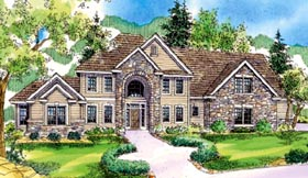 European Traditional Tudor House Plan 59763 Elevation