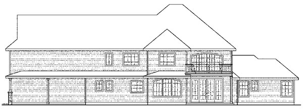 European Traditional Tudor House Plan 59763 Rear Elevation