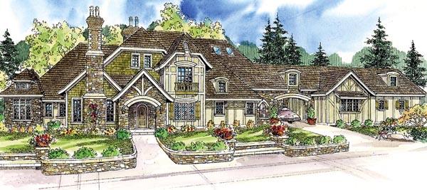European Tudor House Plan 59764 Elevation