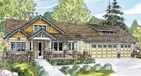Bungalow Cottage Country Craftsman House Plan 59765 Elevation