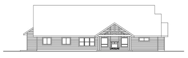 Bungalow Country Craftsman Ranch House Plan 59768 Rear Elevation