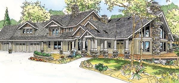 Bungalow Craftsman House Plan 59769 Elevation
