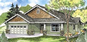 Bungalow Cottage Country Craftsman Ranch House Plan 59770 Elevation