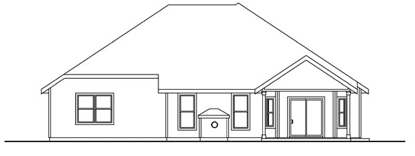 Colonial Contemporary Southern Traditional House Plan 59772 Rear Elevation