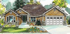 Ranch , Craftsman , Cottage , Contemporary House Plan 59773 with 3 Beds, 2 Baths, 2 Car Garage Elevation
