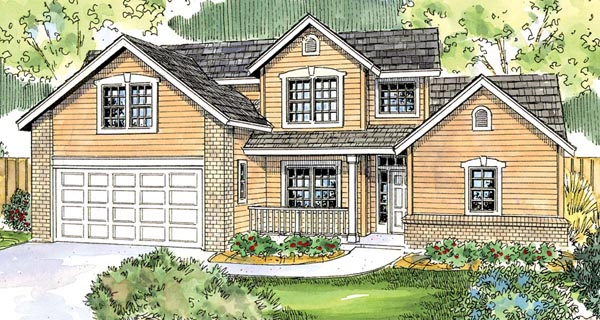 Contemporary Cottage House Plan 59775 Elevation