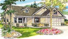Cape Cod Cottage Country Ranch House Plan 59776 Elevation