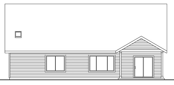 Cape Cod Cottage Country Ranch House Plan 59776 Rear Elevation
