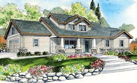 Bungalow Contemporary Cottage Craftsman House Plan 59780 Elevation