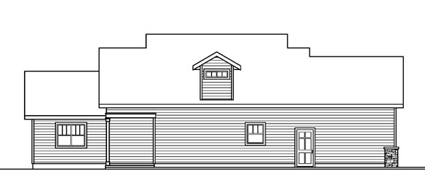 Bungalow Contemporary Cottage Craftsman House Plan 59780 Rear Elevation