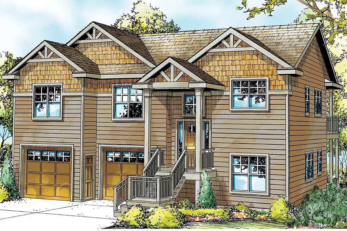 Cape Cod Cottage Craftsman House Plan 59781 Elevation