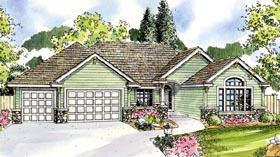 Contemporary Cottage Craftsman European Ranch House Plan 59782 Elevation
