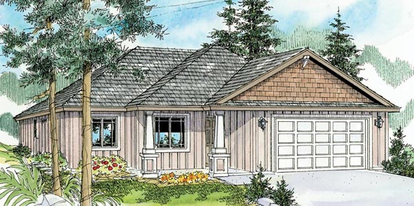 Contemporary Cottage Country Craftsman Ranch House Plan 59783 Elevation