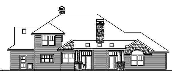 Cottage Craftsman European House Plan 59786 Rear Elevation