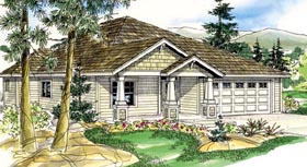 Bungalow Cottage Country Craftsman Ranch House Plan 59788 Elevation