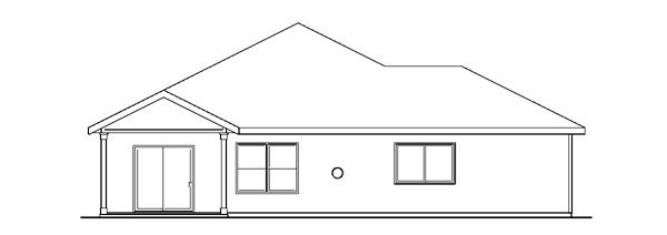 Bungalow Cottage Country Craftsman Ranch House Plan 59788 Rear Elevation