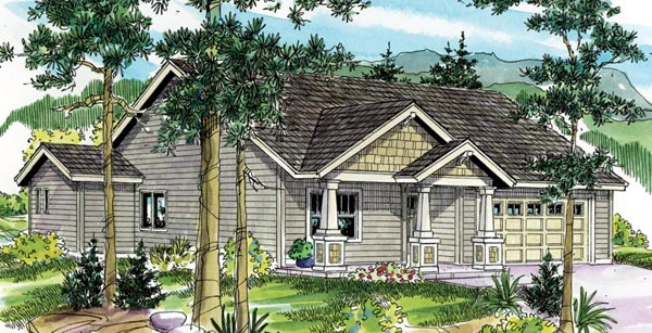 Bungalow Cottage Country Craftsman Ranch House Plan 59789 Elevation