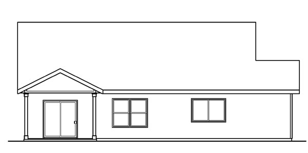 Bungalow Cottage Country Craftsman Ranch House Plan 59789 Rear Elevation