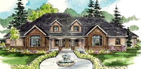 Traditional House Plan 59790 with 3 Beds, 5 Baths, 2 Car Garage Elevation