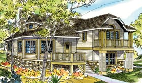 Cape Cod , Cottage , Country , European , Victorian House Plan 59792 with 3 Beds, 3 Baths Elevation