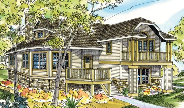 Cape Cod Cottage Country European Victorian House Plan 59792 Elevation