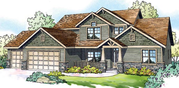 Cottage Craftsman European House Plan 59793 Elevation