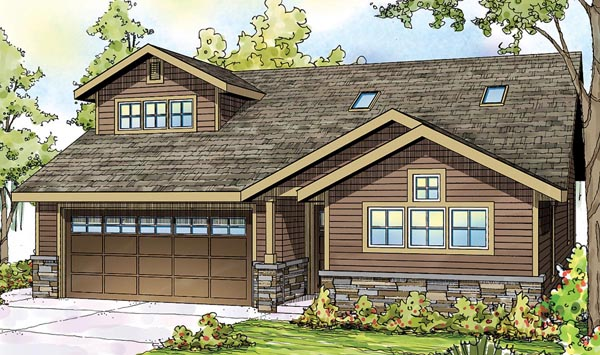 Contemporary Cottage Craftsman European Ranch House Plan 59796 Elevation