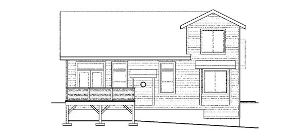 Contemporary Cottage Craftsman European Ranch House Plan 59796 Rear Elevation