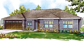 Contemporary Country Ranch House Plan 59798 Elevation