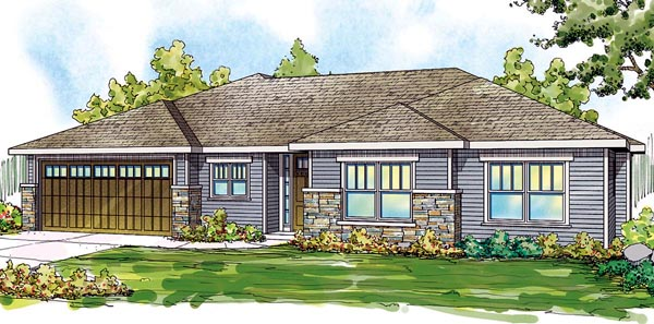 Contemporary , Country , Ranch House Plan 59798 with 3 Beds, 3 Baths, 2 Car Garage Elevation