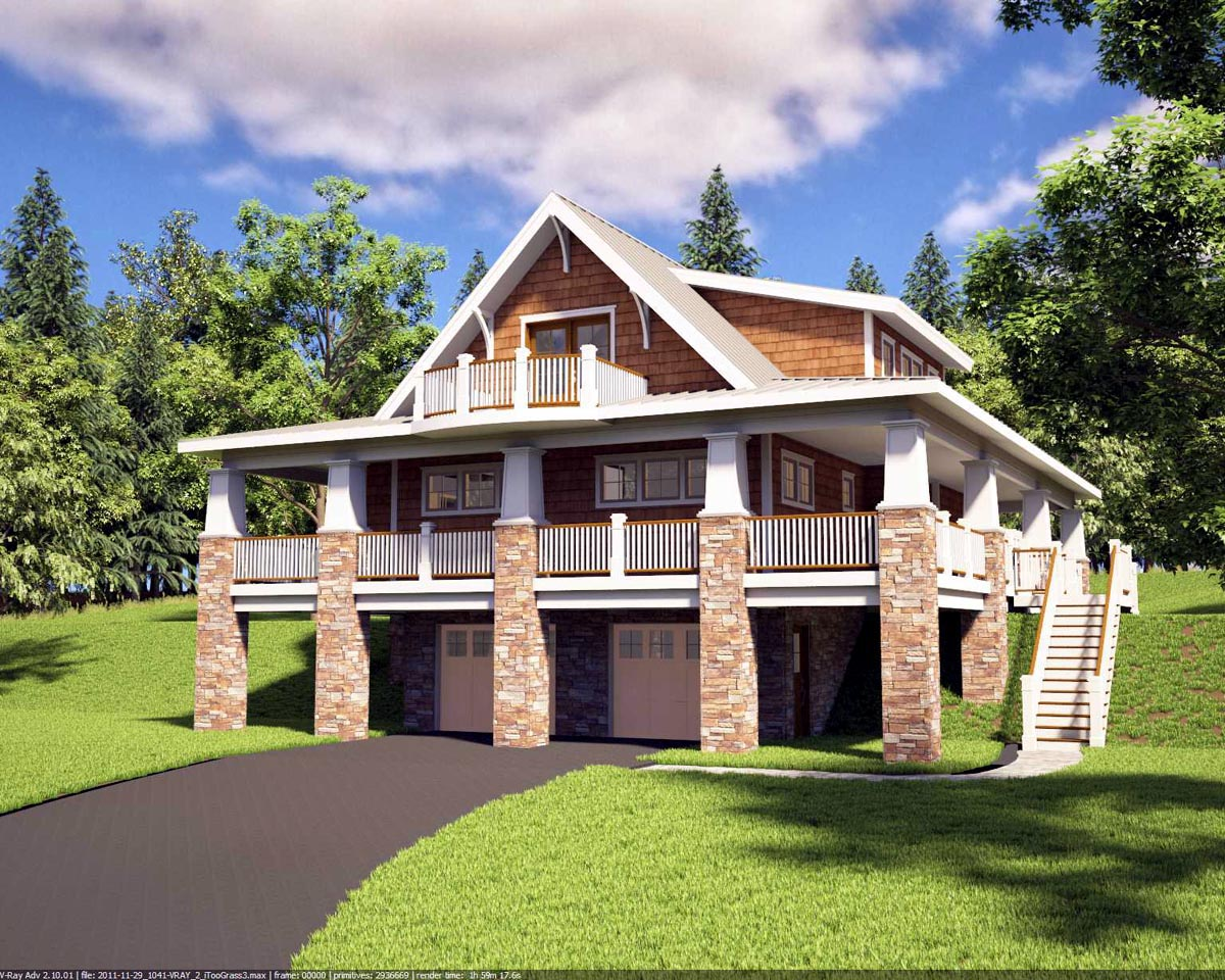 House plan 59923 at for Family home plans com