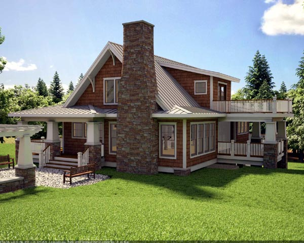 House Plan 59923 Rear Elevation