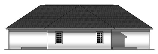 Southern , Ranch , Country Multi-Family Plan 59926 with 6 Beds, 4 Baths Rear Elevation