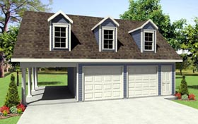 Country Traditional Garage Plan 59931 Elevation