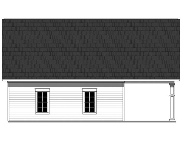 Country Traditional Rear Elevation of Plan 59931