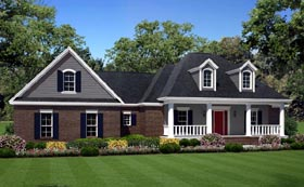 Traditional , Southern , Farmhouse , Country House Plan 59932 with 3 Beds, 2 Baths, 2 Car Garage Elevation