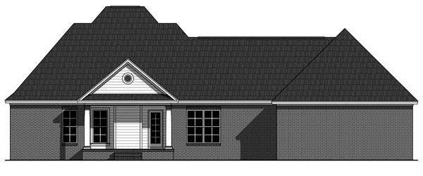 Country Farmhouse Southern Traditional House Plan 59932 Rear Elevation