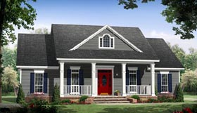 Traditional , Country House Plan 59936 with 3 Beds, 2 Baths, 2 Car Garage Elevation