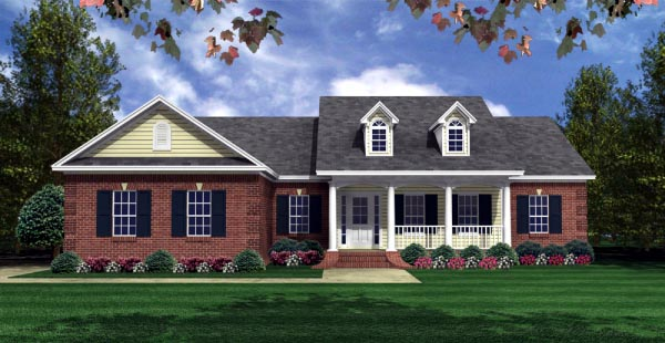 Country European Ranch Traditional House Plan 59941 Elevation